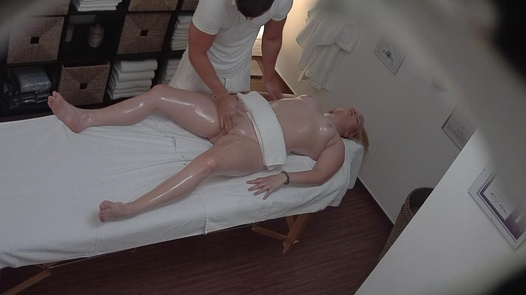 Blonde blows the masseuse 2   Czech Massage 211