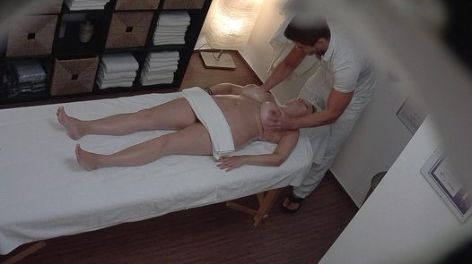 Busty and hairy MILF fucks the masseuse   Czech Massage 233
