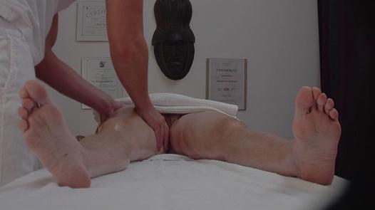 Granny gets a massage | Czech Massage 247