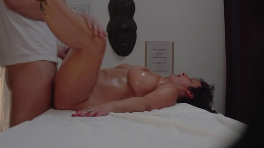 Busty MILF fucks the masseuse 6