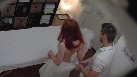 Redhead 18 y/o on a massage | Czech Massage 300
