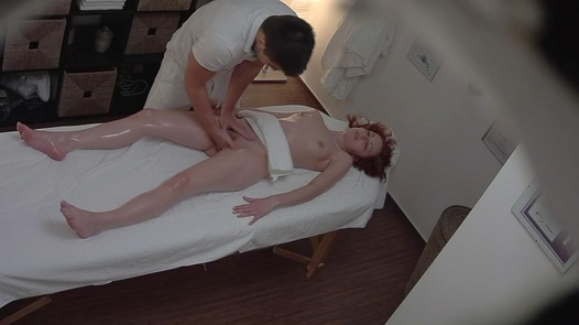 Redhead 18 y/o on a massage