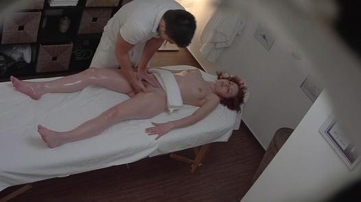 Redhead 18 y/o on a massage
