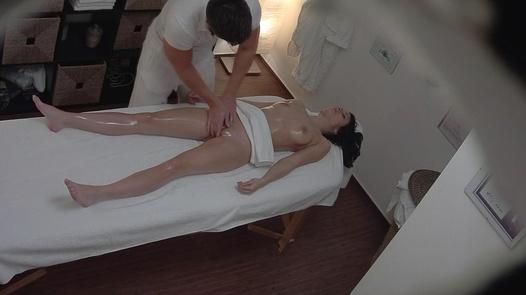Brunette on a massage 2