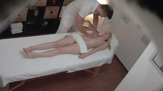 Blonde model fucks the masseuse 3 | Czech Massage 321