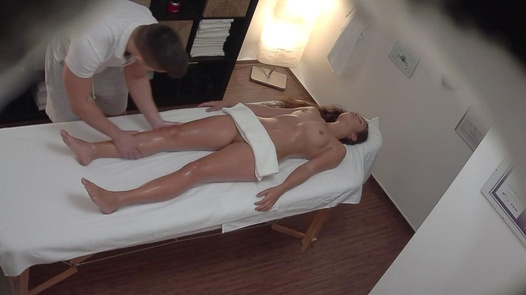 Beautiful 18 y/o on an erotic massage