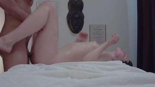 Hairy brunette fucks the masseuse | Czech Massage 334