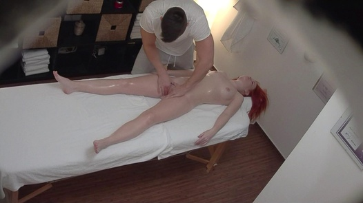 Wild redhead gets an anal massage | Czech Massage 346