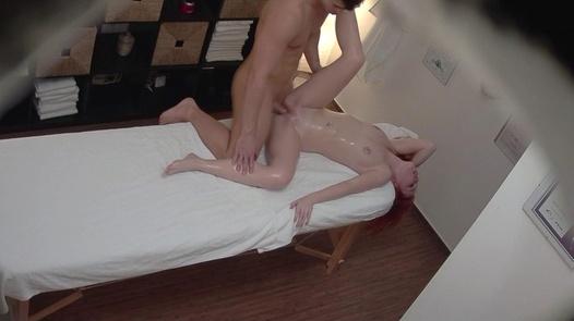 Wild redhead gets an anal massage   Czech Massage 346