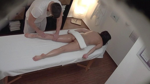 Brunette screws the masseuse 8 | Czech Massage 347