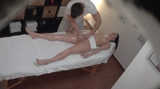 Wild brunette fucks the masseuse   Czech Massage 354