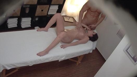 Brunette enjoys sex on massage 9   Czech Massage 355