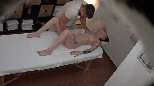Tattooed model gets a massage 2