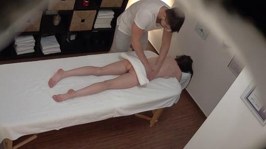 Slim brunette fucks the masseuse 3 | Czech Massage 379