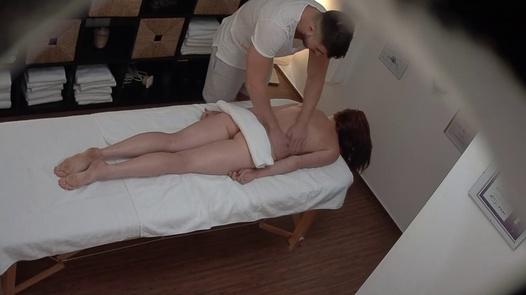Redhead model gets the massage of her dreams | Czech Massage 383