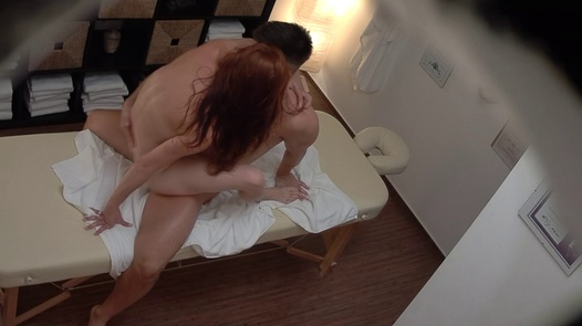 Redhead model gets the massage of her dreams | Czech Massage 383