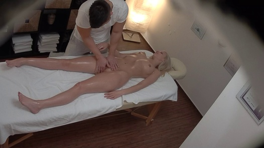 Blonde beauty fucks the masseuse 2 | Czech Massage 386