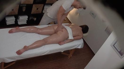 Longhaired brunette fucks the masseuse 4 | Czech Massage 387