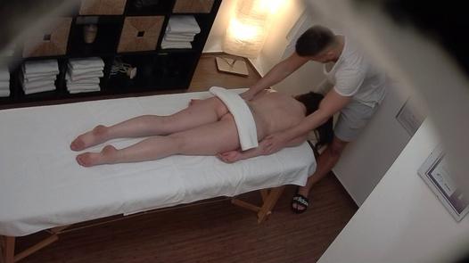 Likable brunette fucks the masseuse | Czech Massage 388