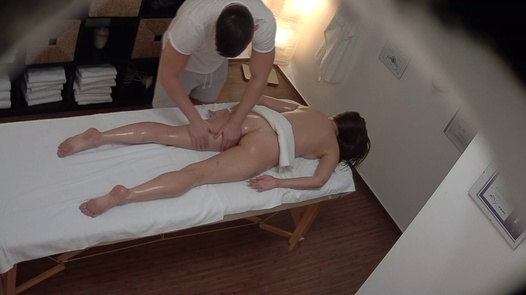 Longhaired brunette fucks the masseuse 5 | Czech Massage 391
