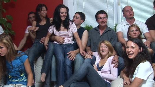 Czech beauties in mega group sex 1 | Czech Mega Swingers 5 part 1