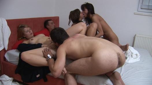 Czech beauties in mega group sex 3
