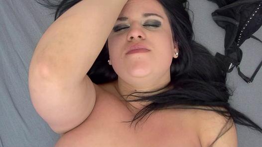 Masturbating goth   Czech Orgasm 16