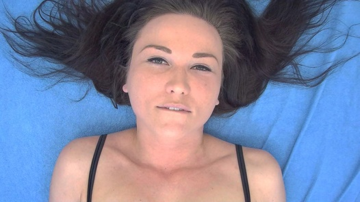 Brunette plays with herself 3