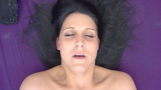 Ecstasy of a brunette