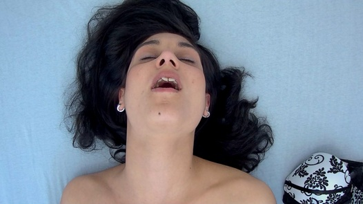 Brunette plays with herself 4