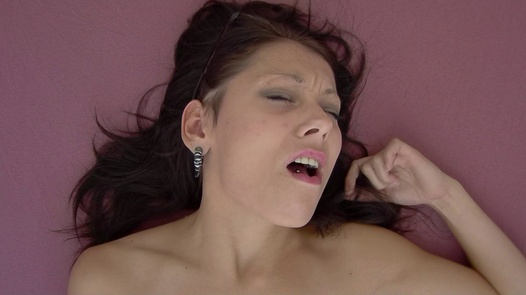 Brunette plays with herself 5