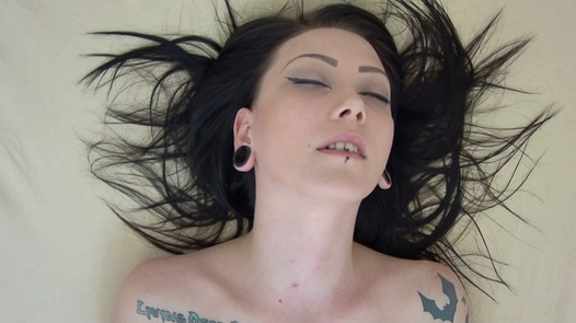 Sweet goth playing with her pussy   Czech Orgasm 150