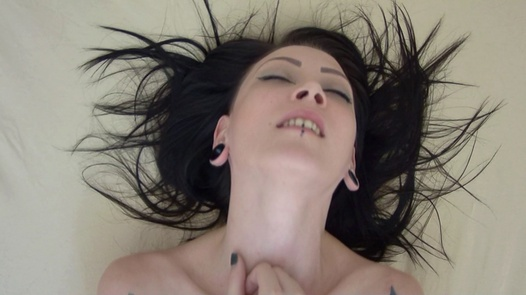 Sweet goth playing with her pussy | Czech Orgasm 150