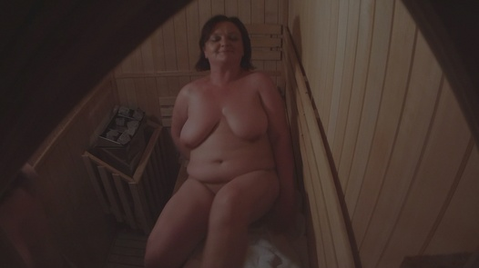 Mature lady and two young pussies | Czech Sauna 38