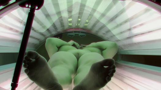 Super busty girl in solarium | Czech Solarium 393