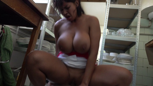 Cook with huge tits and mega clit | Czech Streets 115