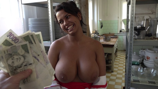 Cook with huge tits and mega clit