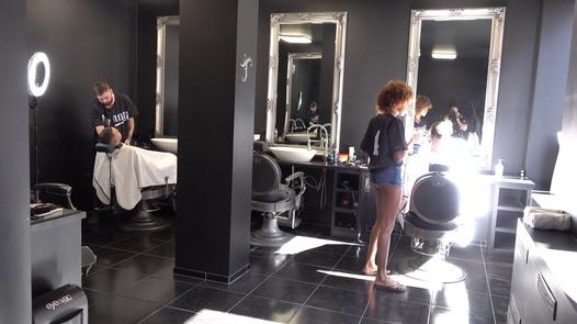 Black sexy hairdresser   Czech Streets 121