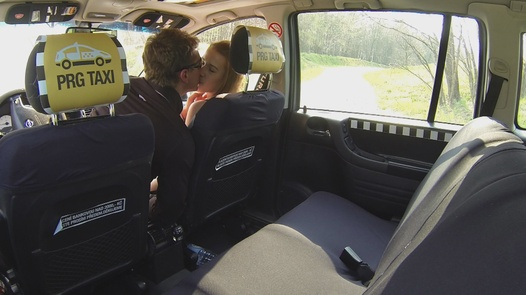 Beauty squirts all over the cab | Czech Taxi 1