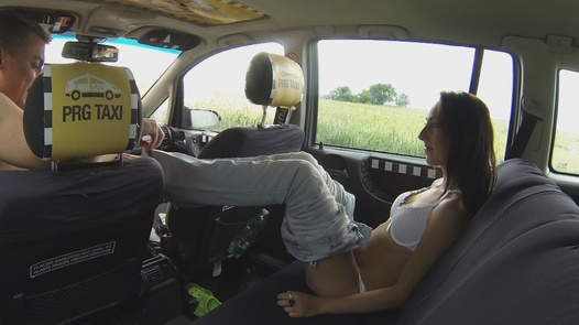 Squirting young nympho | Czech Taxi 8