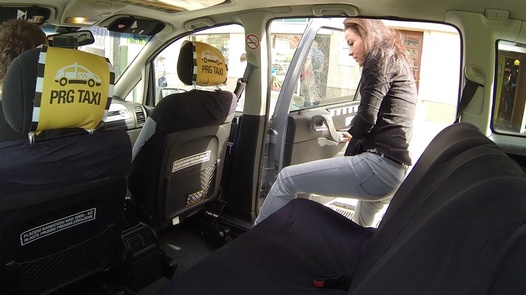 Squirting model   Czech Taxi 12