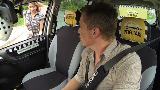 Cure by squirting | Czech Taxi 14