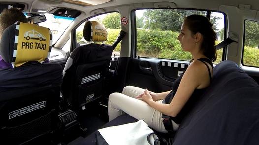 Cheating brunette | Czech Taxi 16