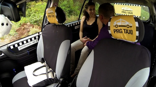 Cheating brunette | Czech Taxi 16