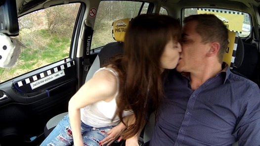 Student squirts like a fountain | Czech Taxi 25