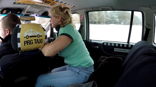 Mature woman squirts for the first time | Czech Taxi 31