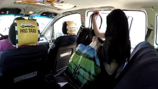 Squirting anal nymphomaniac   Czech Taxi 36