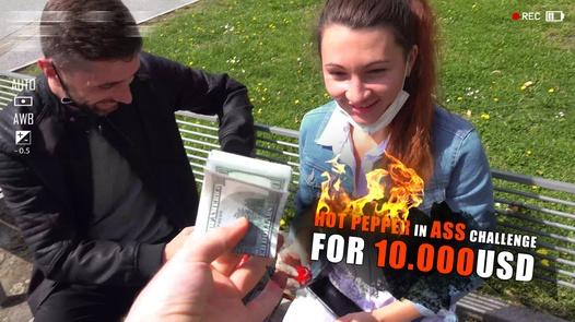 Hot pepper in ass 10k USD challenge