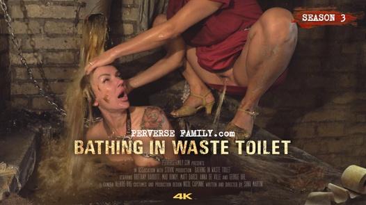 Bathing in Waste Toilet