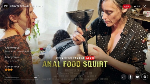 Anal food squirt